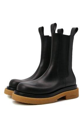 Мужские кожаные челси lug BOTTEGA VENETA черного цвета, арт. 668370/VBS50 | Фото 1 (Материал внутренний: Натуральная кожа; Каблук высота: Высокий; Подошва: Массивная; Мужское Кросс-КТ: Челси-обувь, Сапоги-обувь)