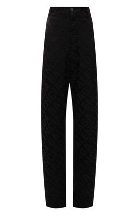 Женские брюки из вискозы BALENCIAGA черного цвета, арт. 671660/TI038 | Фото 1 (Материал внешний: Вискоза, Синтетический материал; Длина (брюки, джинсы): Удлиненные; Женское Кросс-КТ: Брюки-одежда; Силуэт Ж (брюки и джинсы): Широкие; Стили: Гранж)