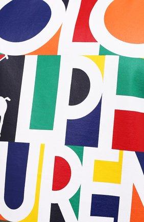Мужская хлопковая футболка POLO RALPH LAUREN хаки цвета, арт. 711843380/PRL BS   Фото 5 (Big sizes: Big Sizes; Рукава: Короткие; Принт: С принтом; Длина (для топов): Удлиненные; Материал внешний: Хлопок)