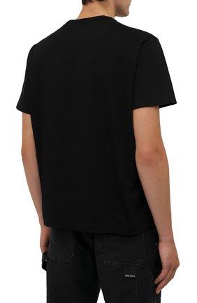 Мужская хлопковая футболка DSQUARED2 черного цвета, арт. S71GD1100/S22427 | Фото 4 (Рукава: Короткие; Длина (для топов): Стандартные; Принт: С принтом; Материал внешний: Хлопок)