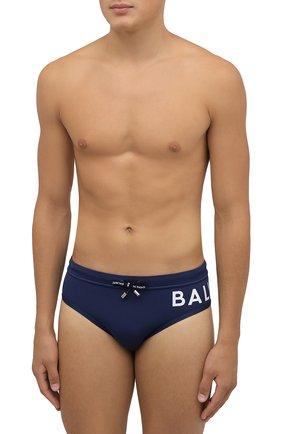 Мужские плавки BALMAIN синего цвета, арт. BWB21016   Фото 2