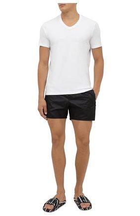 Мужские плавки-шорты BALMAIN черного цвета, арт. BWB78027   Фото 2