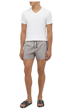 Мужские плавки-шорты BALMAIN серого цвета, арт. BWB78027   Фото 2