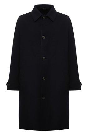Мужской кашемировое пальто LORO PIANA темно-синего цвета, арт. FAL6978 | Фото 1 (Материал внешний: Кашемир, Шерсть; Мужское Кросс-КТ: пальто-верхняя одежда; Стили: Кэжуэл; Длина (верхняя одежда): До колена; Рукава: Длинные)