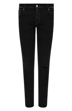 Мужские джинсы AMIRI черного цвета, арт. MDS051-023 | Фото 1 (Длина (брюки, джинсы): Стандартные; Материал внешний: Хлопок; Кросс-КТ: Деним; Силуэт М (брюки): Узкие)