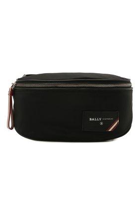 Мужская текстильная поясная сумка flynos BALLY черного цвета, арт. FLYN0S/00 | Фото 1 (Материал: Текстиль; Ремень/цепочка: На ремешке)
