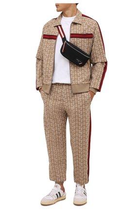 Мужская текстильная поясная сумка flynos BALLY черного цвета, арт. FLYN0S/00 | Фото 2 (Материал: Текстиль; Ремень/цепочка: На ремешке)