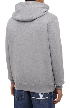 Мужской хлопковая толстовка BURBERRY серого цвета, арт. 8043283 | Фото 4 (Рукава: Длинные; Мужское Кросс-КТ: Толстовка-одежда; Длина (для топов): Стандартные; Материал внешний: Хлопок)