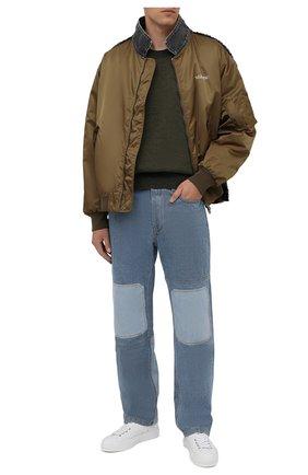 Мужской свитер из шерсти и хлопка ACNE STUDIOS хаки цвета, арт. B60177 | Фото 2
