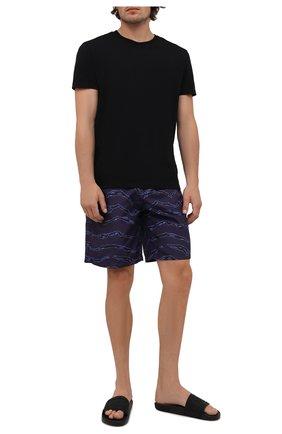 Мужские плавки-шорты MARCELO BURLON темно-синего цвета, арт. CMFA007F21FAB002 | Фото 2