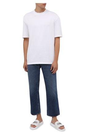 Мужские резиновые шлепанцы ALEXANDER MCQUEEN белого цвета, арт. 663564/W4RF0 | Фото 2 (Материал внешний: Резина)