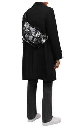 Мужская текстильная поясная сумка army BALENCIAGA серого цвета, арт. 644035/2VZI7   Фото 2 (Материал: Текстиль; Ремень/цепочка: На ремешке)