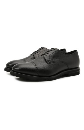 Мужские кожаные дерби H`D`S`N BARACCO черного цвета, арт. 80222.M.2* | Фото 1