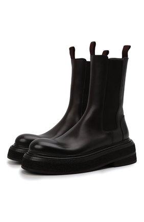 Женские кожаные ботинки MARSELL темно-коричневого цвета, арт. MW6223/PELLE VITELL0 | Фото 1