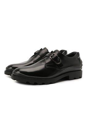 Мужские кожаные монки TOD'S черного цвета, арт. XXM04E00TN0LYG | Фото 1