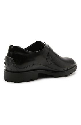 Мужские кожаные монки TOD'S черного цвета, арт. XXM04E00TN0LYG   Фото 4 (Материал внутренний: Натуральная кожа; Стили: Классический)