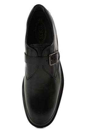 Мужские кожаные монки TOD'S черного цвета, арт. XXM04E00TN0LYG   Фото 5 (Материал внутренний: Натуральная кожа; Стили: Классический)