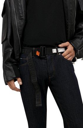 Мужской текстильный ремень HERON PRESTON черного цвета, арт. HMRB005F21FAB0011010 | Фото 2