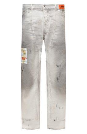 Мужские джинсы HERON PRESTON серого цвета, арт. HMCA027F21FAB0010500 | Фото 1 (Материал внешний: Хлопок; Длина (брюки, джинсы): Стандартные; Кросс-КТ: Деним; Силуэт М (брюки): Широкие)