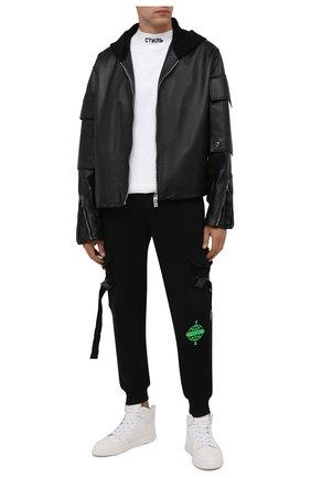 Мужская хлопковая футболка HERON PRESTON белого цвета, арт. HMAA021F21JER0040110 | Фото 2 (Рукава: Короткие; Длина (для топов): Стандартные; Материал внешний: Хлопок; Принт: С принтом)