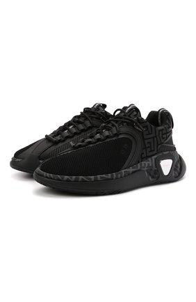 Мужские кроссовки b-runner BALMAIN черного цвета, арт. WM1VI261/TRMM | Фото 1 (Материал внутренний: Текстиль, Натуральная кожа; Материал внешний: Текстиль; Подошва: Массивная; Стили: Гранж)