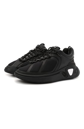 Мужские кроссовки b-runner BALMAIN черного цвета, арт. WM1VI261/TRPE | Фото 1