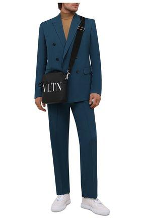 Мужские кожаные кеды LANVIN белого цвета, арт. FM-SKLS00-NAPA-A21 | Фото 2 (Материал внутренний: Натуральная кожа; Подошва: Массивная)