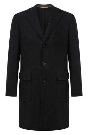 Мужской пальто из шерсти и кашемира CANALI серого цвета, арт. 55815/FF02247 | Фото 1 (Материал внешний: Шерсть; Рукава: Длинные; Материал подклада: Купро; Длина (верхняя одежда): До середины бедра; Мужское Кросс-КТ: пальто-верхняя одежда; Стили: Классический)
