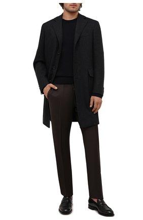 Мужской пальто из шерсти и кашемира CANALI серого цвета, арт. 55815/FF02247 | Фото 2 (Материал внешний: Шерсть; Рукава: Длинные; Материал подклада: Купро; Длина (верхняя одежда): До середины бедра; Мужское Кросс-КТ: пальто-верхняя одежда; Стили: Классический)