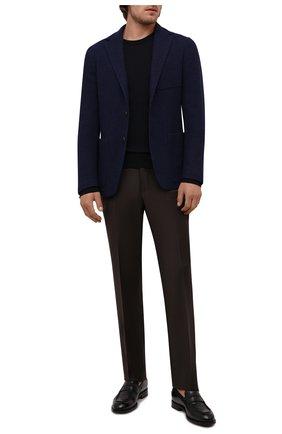 Мужской шерстяной пиджак CANALI синего цвета, арт. J0147/JJ02177 | Фото 2 (Материал внешний: Шерсть; Длина (для топов): Стандартные; Рукава: Длинные; 1-2-бортные: Однобортные; Случай: Коктейльный; Пиджаки М: Приталенный)