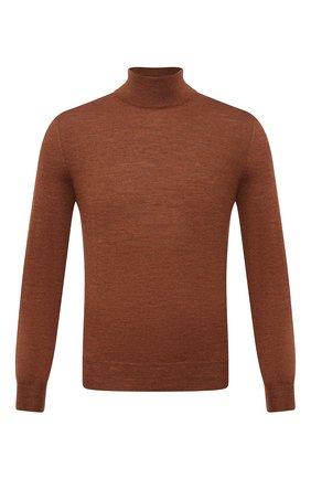 Мужской шерстяная водолазка CANALI коричневого цвета, арт. C0002/MK00077 | Фото 1 (Материал внешний: Шерсть; Мужское Кросс-КТ: Водолазка-одежда; Принт: Без принта; Длина (для топов): Стандартные; Рукава: Длинные)
