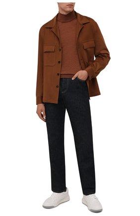 Мужской шерстяная водолазка CANALI коричневого цвета, арт. C0002/MK00077 | Фото 2 (Материал внешний: Шерсть; Мужское Кросс-КТ: Водолазка-одежда; Принт: Без принта; Длина (для топов): Стандартные; Рукава: Длинные)