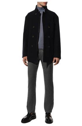 Мужской шерстяная водолазка CANALI голубого цвета, арт. C0002/MK00077 | Фото 2 (Материал внешний: Шерсть; Мужское Кросс-КТ: Водолазка-одежда; Принт: Без принта; Длина (для топов): Стандартные; Рукава: Длинные)