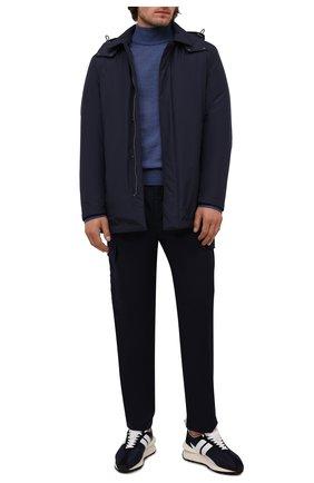 Мужской шерстяная водолазка CANALI синего цвета, арт. C0002/MK00077 | Фото 2 (Материал внешний: Шерсть; Мужское Кросс-КТ: Водолазка-одежда; Принт: Без принта; Рукава: Длинные; Длина (для топов): Стандартные)