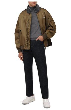 Мужской шерстяная водолазка CANALI темно-серого цвета, арт. C0002/MK00077 | Фото 2 (Материал внешний: Шерсть; Мужское Кросс-КТ: Водолазка-одежда; Принт: Без принта; Длина (для топов): Стандартные; Рукава: Длинные)