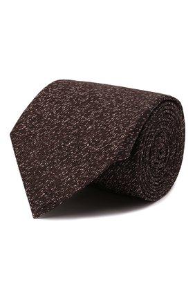 Мужской шелковый галстук CANALI коричневого цвета, арт. 70/HJ03247   Фото 1