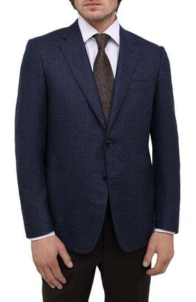 Мужской шелковый галстук CANALI коричневого цвета, арт. 70/HJ03247   Фото 2