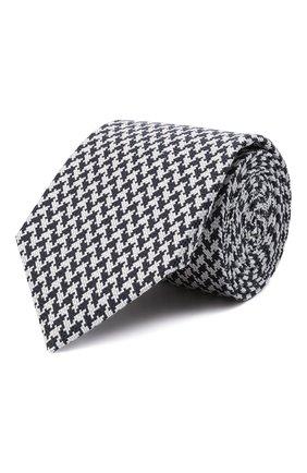 Мужской шелковый галстук CANALI синего цвета, арт. 24/HJ03266   Фото 1 (Материал: Текстиль, Шелк; Принт: С принтом)
