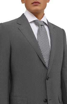 Мужской шелковый галстук CANALI синего цвета, арт. 24/HJ03266   Фото 2 (Материал: Текстиль, Шелк; Принт: С принтом)