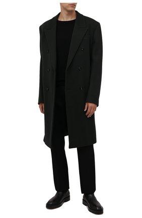Мужской кашемировый свитер DRIES VAN NOTEN черного цвета, арт. 212-021206-3701 | Фото 2