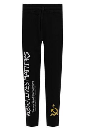 Мужские хлопковые брюки DIEGO VENTURINO черного цвета, арт. FW21-DV PNTL TV-WWERLM | Фото 1