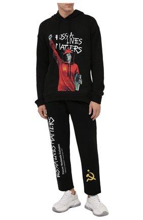 Мужские хлопковые брюки DIEGO VENTURINO черного цвета, арт. FW21-DV PNTL TV-WWERLM | Фото 2