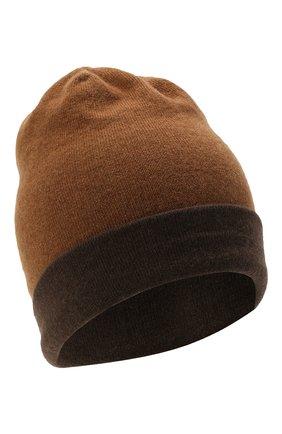 Мужская кашемировая шапка MOORER темно-коричневого цвета, арт. BARBERIN0-CWS/M0UBE100003-TEPA177 | Фото 1 (Материал: Кашемир, Шерсть; Кросс-КТ: Трикотаж)
