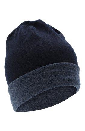Мужская кашемировая шапка MOORER синего цвета, арт. BARBERIN0-CWS/M0UBE100003-TEPA177 | Фото 1 (Материал: Шерсть, Кашемир; Кросс-КТ: Трикотаж)