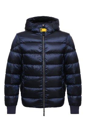 Мужская пуховая куртка PARAJUMPERS темно-синего цвета, арт. SX13/PHARRELL | Фото 1 (Материал внешний: Синтетический материал; Материал подклада: Синтетический материал; Материал утеплителя: Пух и перо; Кросс-КТ: Куртка; Мужское Кросс-КТ: пуховик-короткий; Принт: Без принта; Рукава: Длинные; Длина (верхняя одежда): Короткие)