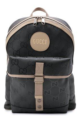Мужской текстильный рюкзак off the grid GUCCI серого цвета, арт. 644992/H9H0N | Фото 1 (Материал: Текстиль; Ремень/цепочка: На ремешке)