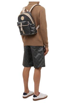 Мужской текстильный рюкзак off the grid GUCCI серого цвета, арт. 644992/H9H0N | Фото 2 (Материал: Текстиль; Ремень/цепочка: На ремешке)