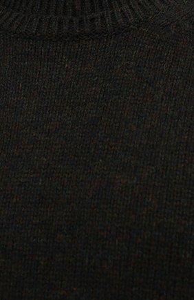 Мужской шерстяной свитер MAISON MARGIELA темно-зеленого цвета, арт. S50GP0243/S17785   Фото 5 (Материал внешний: Шерсть; Рукава: Длинные; Принт: Без принта; Длина (для топов): Стандартные; Мужское Кросс-КТ: Свитер-одежда)