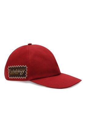 Мужской хлопковая бейсболка GUCCI красного цвета, арт. 656183/4HAEX | Фото 1
