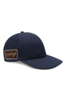 Мужской хлопковая бейсболка GUCCI синего цвета, арт. 656183/4HAEX | Фото 1 (Материал: Текстиль, Хлопок)